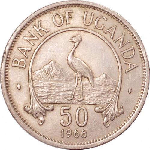 Uganda 50 cents 1974 km#4 XF-UNC