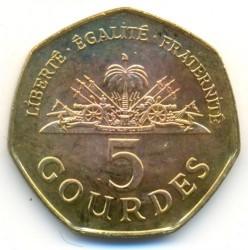 Монета > 5гурдів, 1995-2013 - Гаїті  - obverse