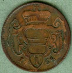 Coin > 1pfennig, 1759-1765 - Austria  - reverse