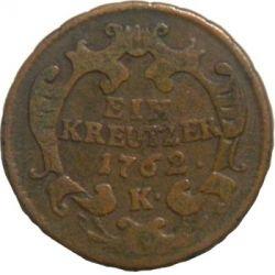 Moneda > 1kreuzer, 1760-1765 - Austria  - obverse