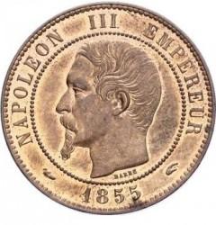 Moneta > 10centesimi, 1852-1857 - Francia  - obverse