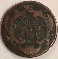 Moneda > 1kreuzer, 1761 - Austria  (Maria Teresa) - obverse