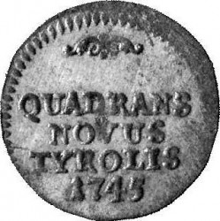 Монета > ¼крейцера, 1742-1747 - Австрия  - reverse