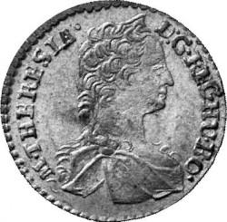 Coin > 1kreuzer, 1742 - Austria  (Value below eagle on reverse) - obverse