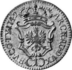 Coin > 1kreuzer, 1742 - Austria  (Value below eagle on reverse) - reverse