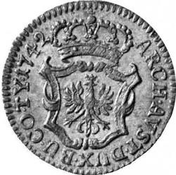 Coin > 1kreuzer, 1742-1743 - Austria  - reverse
