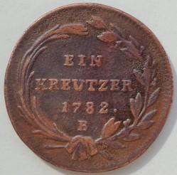 Монета > 1кройцер, 1780-1790 - Австрия  - reverse
