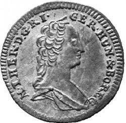 سکه > 1کرویزر, 1755 - اتریش   (Maria Theresa - Eagle with arms of Styria) - obverse