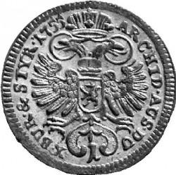 سکه > 1کرویزر, 1755 - اتریش   (Maria Theresa - Eagle with arms of Styria) - reverse