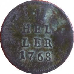 سکه > 1هلر, 1768 - اتریش   - reverse