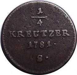 سکه > ¼کرویزر, 1781-1790 - اتریش   - reverse