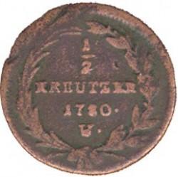 Монета > ½крейцера, 1780 - Австрія  (Марія Тереза) - reverse