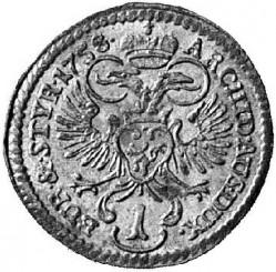Moneta > 1kreuzer, 1756-1762 - Austria  - reverse