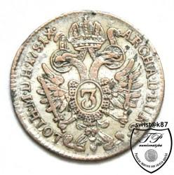Pièce > 3kreuzer, 1780-1784 - Autriche  - reverse