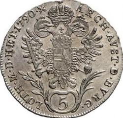 Minca > 5grajciarov, 1788-1790 - Rakúsko  - reverse