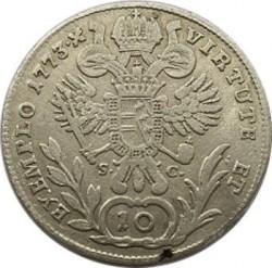 Монета > 10кройцера, 1765-1780 - Австрия  (Joseph II) - reverse