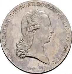"Монета > 1талер, 1792 - Австрия  (Francis II - Lettering ""LEGE ET FIDE"") - obverse"