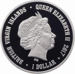 Moneda > 1dollar, 2017 - Illes Verges Britàniques  (Ximpancé) - obverse