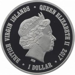 Moneda > 1dólar, 2017 - Islas Vírgenes Británicas  (Novosibirsk Zoo - Gray Wolf) - obverse