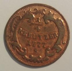 Монета > ¼крейцера, 1777-1779 - Австрія  - reverse