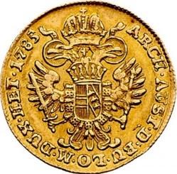 """Монета > 1дукат, 1781-1786 - Австрия  (Надпис """"ARCH·AUST·D·BU·LO·M·DUX·HET"""") - reverse"""