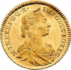 Монета > 1дукат, 1750-1765 - Австрія  (Марія Терезія - щит Австрії в центрі) - obverse