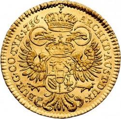 Монета > 1дукат, 1750-1765 - Австрія  (Марія Терезія - щит Австрії в центрі) - reverse