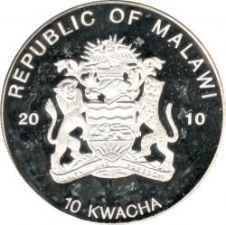 Монета > 10квач, 2010 - Малави  (Вымирающие лягушки - Радужная лягушка) - obverse