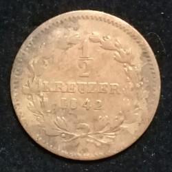 Moneda > ½kreuzer, 1842-1852 - Baden  - reverse