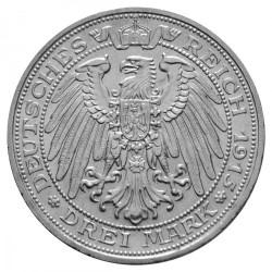 Moneda > 3marcos, 1915 - Alemán (Imperio)  (100º Aniversario - Absorción de Mansfeld) - reverse