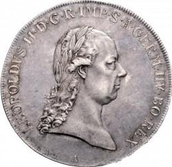 Moneta > 1thaler, 1790-1792 - Austria  - obverse