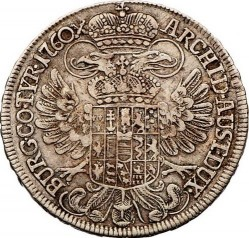 ½ Taler 1758 1765 Maria Theresa Arms Of Austria In Centre