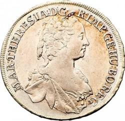 سکه > ½تالر, 1751-1754 - اتریش   (Maria Theresa - Arms of Styria in Centre) - obverse