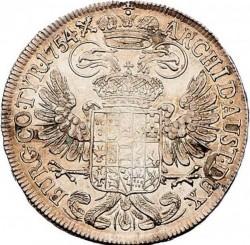 سکه > ½تالر, 1754-1757 - اتریش   - reverse