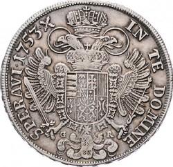 Монета > ½талера, 1751-1765 - Австрія  (Франц І) - reverse