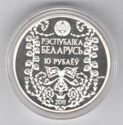 Moneda > 10rublos, 2011 - Bielorrusia  (120 aniversario - Nacimiento de M. Bahdanovich) - reverse