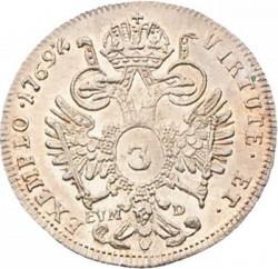 Монета > 3крейцера, 1766-1780 - Австрія  - reverse