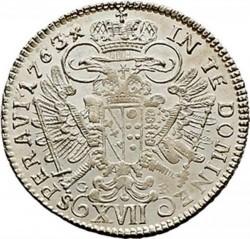 Монета > 17крейцерів, 1751-1765 - Австрія  (Франц І) - reverse
