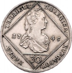 Coin > 30kreuzer, 1744-1745 - Austria  (Coat of Arms of Styria in Centre) - obverse