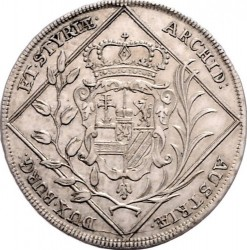 Coin > 30kreuzer, 1744-1745 - Austria  (Coat of Arms of Styria in Centre) - reverse