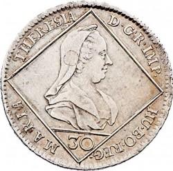 Монета > 30крейцерів, 1765-1773 - Австрія  - obverse