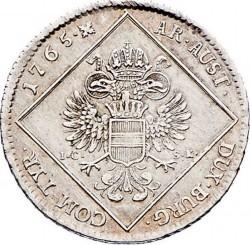 Монета > 30крейцерів, 1765-1773 - Австрія  - reverse
