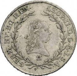 Minca > 20grajciarov, 1790-1792 - Rakúsko  - obverse