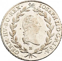 Монета > 20кройцера, 1781-1790 - Австрия  (Joseph II - Close Wreath above Head) - obverse