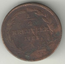 Монета > ½крейцера, 1780-1790 - Австрія  - obverse