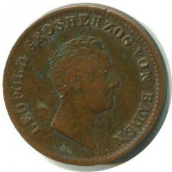 Moneda > 1kreuzer, 1836-1845 - Baden  - obverse