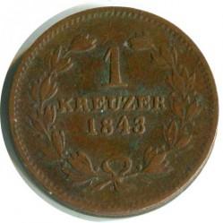 Moneda > 1kreuzer, 1836-1845 - Baden  - reverse