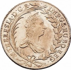 Coin > 20kreuzer, 1754-1766 - Austria  (Eagle with Austria Arms on Breast) - obverse