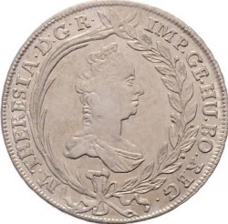 Coin > 20 kreuzer, 1754-1766 - Austria  (Eagle with Austria Arms on Breast) - obverse