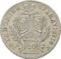 Монета > 20крейцерів, 1754-1765 - Австрія  (Франц І) - reverse